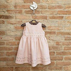 Vestido Bebê Caroline Floral Rosa