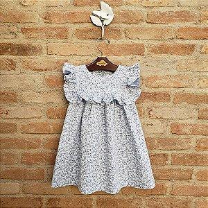 Vestido Bebê Milão Floral Azul Bebê