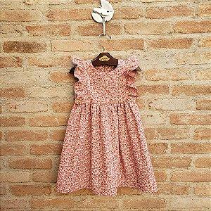 Vestido Infantil Capri Floral Rosa Antigo