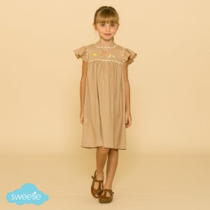 Vestido Bebê e Infantil Roma Linho Bege