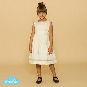 Vestido Infantil Meghan Off White