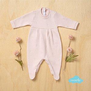 Macacão Sweetie Maternidade Rococó Rosa Bebê