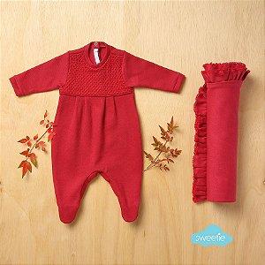 Conjunto Sweetie Maternidade Friso Vermelho