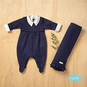 Kit Sweetie Maternidade Friso Azul Marinho