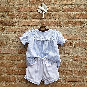 Conjunto Infantil Lucca Azul Bebê