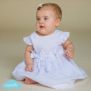 Vestido Bebê Nózinho Pipoca Branco DEF