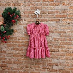 Vestido Infantil Lírio Valentino Vermelho
