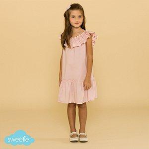 Vestido Infantil Hibisco Rosa DEF