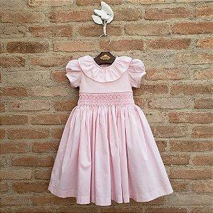 Vestido Bordado Infantil Lisboa Rosa