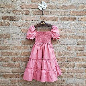 Vestido Infantil Verbena Goiaba DEF