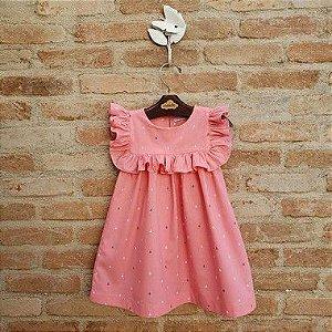 Vestido Infantil Milão Âncoras Rosa DEF