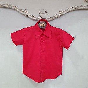 Camisa Manga Curta Vermelha