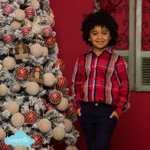 Camisa Scott Xadrez Vermelho Natal