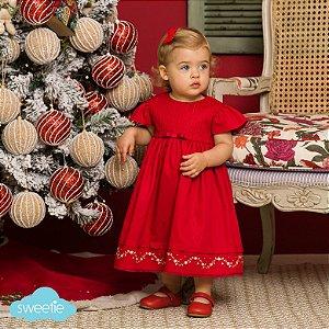 Vestido Lorena Fustão Vermelho