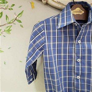 Camisa Menino Xadrez Azul