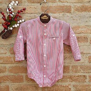 Camisa Body Lucca Listrada Vermelha