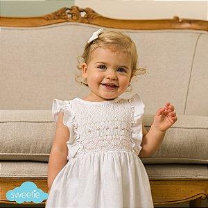 Vestido Bordado Lisse Branco