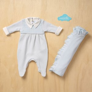 Kit Sweetie Maternidade Friso Azul Bebê