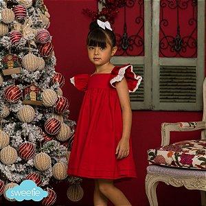 Vestido Geranio Vermelho
