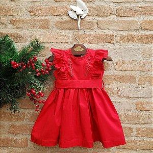 Vestido Gérbera Vermelho