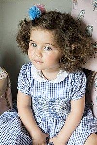 Vestido Casinha de Abelha Xadrez