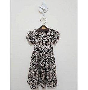 Vestido Animal Print Infantil