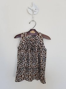Vestido Lacinho Animal Print