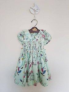 Vestido Casinha de Abelha Green Baby