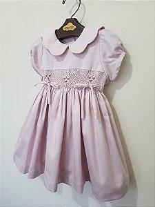 Vestido Casinha de Abelha Rosa Antigo Baby