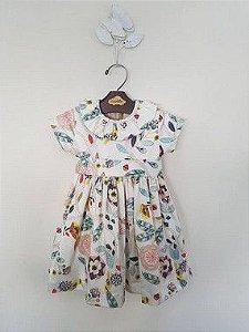 Vestido Babado Floral Girl