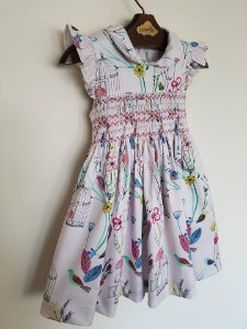 Vestido Casinha de Abelha Gaiola Rosa