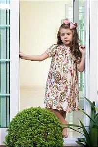 Vestido bata bordado Versailles Infantil