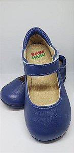 Sapato em couro Azul  Marinho