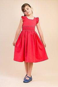 Vestido bordado Coral Guilhermina