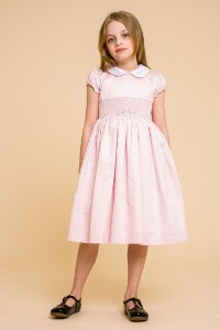 Vestido bordado 400 fios Rose infantil