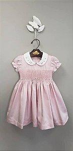 Vestido bordado Rose Infantil 400 fios