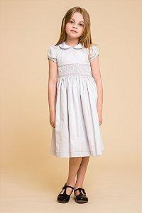 Vestido bordado 400 fios Cinza Infantil
