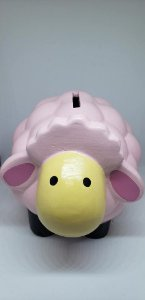 Cofre ovelha rosa