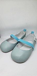Sapato em couro blue