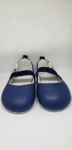 Sapato em couro azul