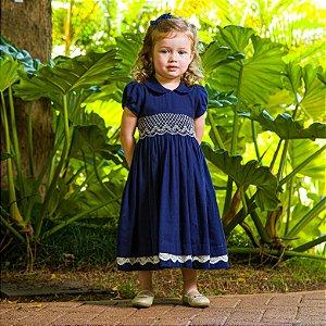 Vestido bordado Blue