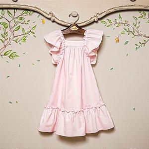 Vestido Infantil Bolonha Rosa Bebê