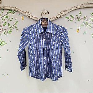 Camisa Menino Clássica Xadrez Azul