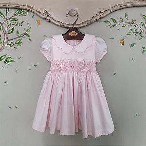 Vestido Bordado Bebê Melissa Rosa