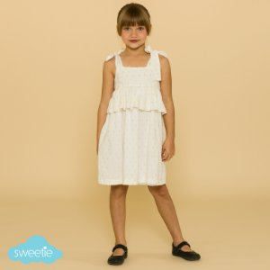 Vestido Infantil Brilho Branco