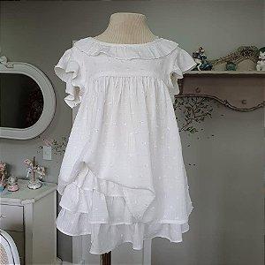 Conjunto bebê e Infantil Branco Rimini