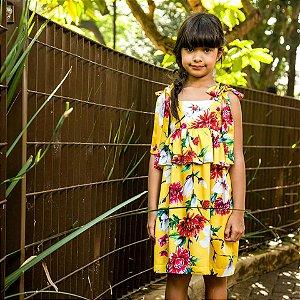 Vestido Infantil Floral Dolce