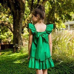 Vestido Infantil Bolonha Verde