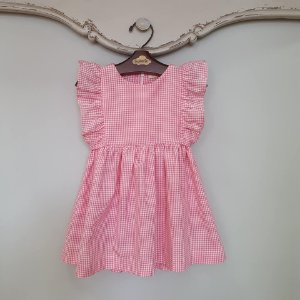 Vestido Bebê e Infantil Capri Xadrez Rosa