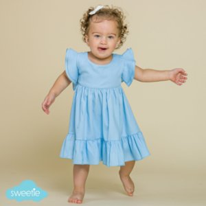 Vestido Bebê Turin Azul Bebê